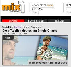 Mark Medlock - Summer Love auf Platz 1